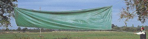 la prise au vent d'un ruban trop dense
